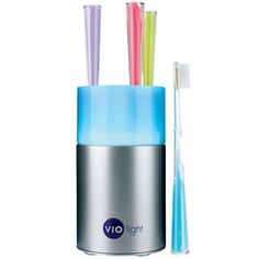 Countertop Toothbrush Sanitizer. This award-winning tooth brush storage system sanitizes up to four toothbrushes at one time. It prevents cross contamination of bacteria from one toothbrush to another, and even accommodates electric toothbrush heads. $50.00