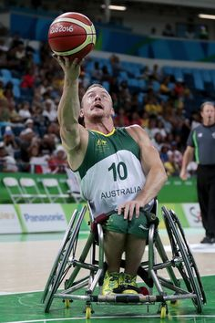 Jannik Blair of Australia and of Japan in action during Men's Wheelchair Basketball match between Australia and Japan at Olympic Arena on day 5 of the Rio 2016 Paralympic Games at  on September 12, 2016 in Rio de Janeiro, Brazil.