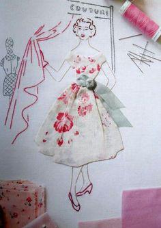Make for the girls, ...using their Granma's handkerchief