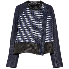 Proenza Schouler Asymmetric woven leather jacket ($2,843) ❤ liked on Polyvore