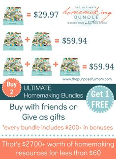 Ultimate Homemaking Bundle - 6 Days only, from April 23-28!