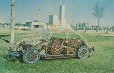 Volkswagen de la Ave Lincoln. Herrería Flores. Ciudad Juárez. En el Parque Chamizal.