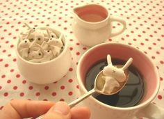 Sugar rabbits + coffee = Cute!