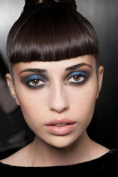 Black and blue smoky eyes