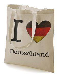 """Stoffbeutel """"I love Deutschland""""  von MAD IN BERLIN auf DaWanda.com"""