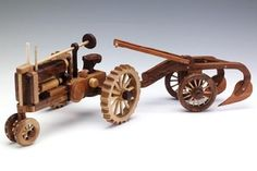 Woodworking Toys, Easy Woodworking Projects, Wood Projects, Wooden Toy Trucks, Wooden Toys, Wood Toys Plans, Antique Tractors, Made Of Wood, Wood Sculpture