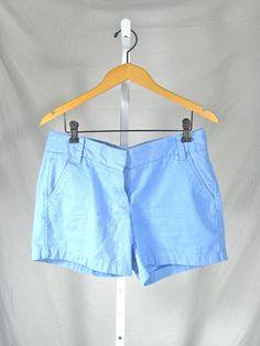 J CREW Blue Cotton Chino Broken In Short Size 6 #JCrew #KhakiChino