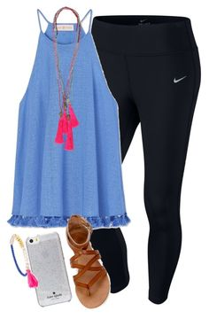 """i want it all!!"" by elizabethannee ❤ liked on Polyvore featuring NIKE, Tory Burch, Kate Spade and BaubleBar"