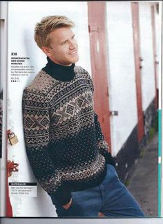 Knitting Projects, Knitting Patterns, Fair Isle Pattern, Knits, Men Sweater, Vogue, Turtle Neck, Crafty, Sweaters