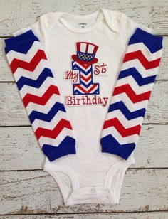 Baby boy July 4th outfit/First 4th of by BabyTrendzz on Etsy
