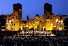 Terme di Caracalla - Teatro dell'Opera in Rome holds its summer opera and ballet season at the ruins of the Baths of Caracalla. Opera under the stars in the open air is an experience I recommend. I saw Turandot there and it was truly magical.  ( ~ an expat in Rome ~ )