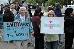 Anti-Bike Lane Protestors + Shortsightedness