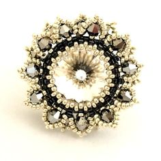 Swarovski Ring/ Swarovski Beads Ring/ Colorful Jewelry/ by Ranitit
