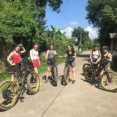 """Buzzy Bee Bike Fatbike E-bike on Instagram: """"Great morning out on a short ride with this Irish gang in Nam Phrae hills""""  🐝🚴♀️🚴🏼♂️ #chiangmai #thailand #ebike #ebiking #fatbike #fatbiking #cyclingtour #cycling #electricbicycle #thailandtravel #lovethailand #amazingthailand #irish #ireland #adventuretours"""