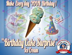 Birthday Cake Surprise ice cream! It's like a Birthday Party in your mouth!!