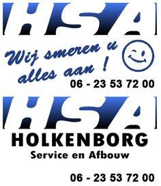 HSA service en afbouw met een mooie slogan op onze display in Lichtenvoorde