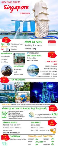 Singapore is a modern, clean, action packed city-state. If you are planning a trip to Singapore, check out our Quick Travel Guide to Singapore first. Quick Travel, New Travel, Travel Goals, Travel With Kids, Asia Travel, Ultimate Travel, Hawaii Travel, Travel Packing, Italy Travel