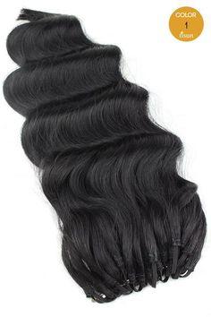 MilkyWay Saga 100% Human Hair Crochet Braiding Hair Loose Deep Standard Color 1 - Jet Black
