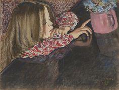 Stanisław Wyspiański, Helenka z wazonem  |  1902, pastel, papier, Muzeum Narodowe w Krakowie