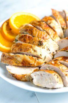 Orange Herb-roasted Turkey Breast ~ with mustard, garlic, & citrus | recipe from Inspired Taste