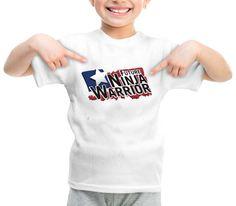 future ninja warrior graphic printed youth toddler tshirt