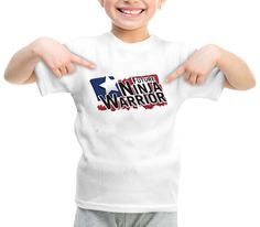 future ninja warrior graphic printed youth toddler tshirt