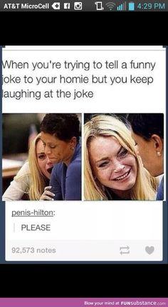Before even telling the joke