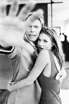 David Bowie & Kate Moss   © Ellen von Unwerth for Q 2003