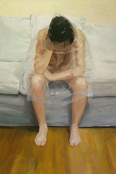 Raining inside 150x100 oil on canvas 2012.