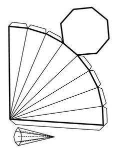 Recortables de figuras geométricas| piraoctagono