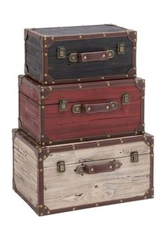 Vintage Wood Trunks.