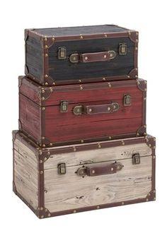 Vintage Wood Trunks.