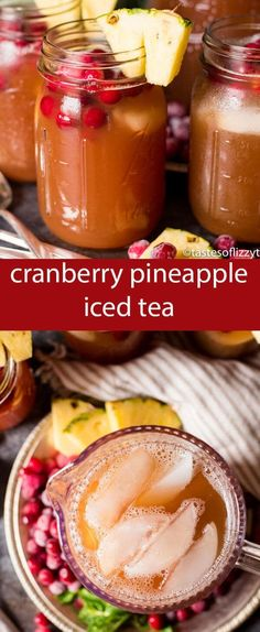 Reimagine your family dinner by adding Cranberry Pineapple Iced Tea as the perfect pairing to any main dish. This naturally sweetened drink is just 3 ingredients and ready in under 10 minutes.