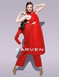 Sara Blomqvist Shows Two Sides for Carvens Spring 2013 Campaign by Viviane Sassen   Fashion Gone Rogue: The Latest in Editorials and Campaigns