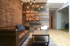 Homepolish interior designer Tina Apostolou did a complete redesign of the office for We Are Social located in New York City.