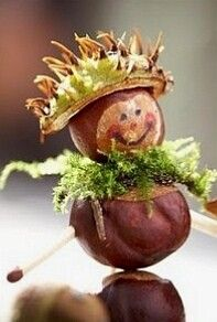 Tinker chestnut males with children - Easy Crafts for All Handmade Christmas Gifts, Handmade Gifts, Christmas Crafts, Christmas Decorations, Christmas Ornaments, Autumn Crafts, Nature Crafts, Diy And Crafts, Crafts For Kids