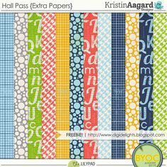Free Hall Pass Papers from Kristen Aagard Designs