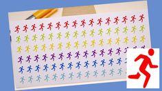 PLANNER STICKER  jogger  sport  small rainbow by StickersSwissMade