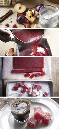 Sugar plum jellies Homemade sugar plum jellies dusted with caster sugar – brilliant as birthday gifts for friends and family. Make this recipe days ahead of time to allow the jelly to completely cool and set. Homemade Food Gifts, Homemade Sweets, Homemade Candies, Edible Gifts, Candy Recipes, Fruit Recipes, Sweet Recipes, Cooking Recipes, Plum Recipes Healthy