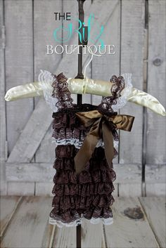 BROWN lace petti romper, lace romper, photo prop, birthday outfit, romper with sleeves