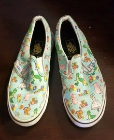 05f6e14d6f Vans Disney Toy Story Kids Shoes Andy's Toys Classic Slip On