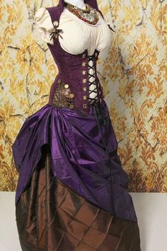 Most popular tags for this image include: corset, pirate, purple and steampunk Pirate Steampunk, Steampunk Cosplay, Victorian Steampunk, Steampunk Clothing, Steampunk Fashion, Gothic, Steampunk Dress, Cool Costumes, Cosplay Costumes