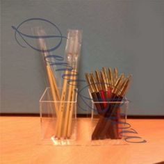 Подставка для карандашей и кистей за ₽200 на сайте DemiBrowShop Incense, Candles, Candy, Candle, Pillar Candles