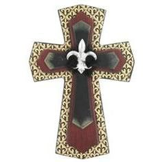 Brown Silver Cross Wall Decor Crosses Pinterest Walls And