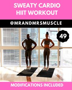 Lower body Hiit cardio exercise to burn fat and build strength. for health Intense Cardio HIIT Workout Sixpack Workout, Full Body Hiit Workout, Gym Workout Videos, Cardio Workout At Home, Fitness Workout For Women, Fitness Routines, Pilates Workout, Body Fitness, Gym Workouts