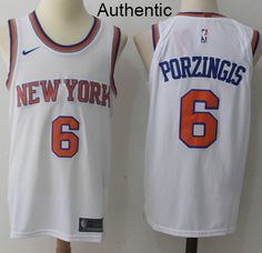 b5d588b7d Nike Knicks  6 Kristaps Porzingis White NBA Authentic Association Edition  Jersey Cheap Nba Jerseys