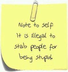 Feeling stabby...