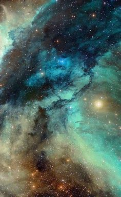 The cosmic ice sculptures of the Carina Nebula via Hubblesite. The visible space is big, complex and can be incredibly beautiful.