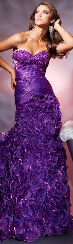 Purple Extreme Evening Gown