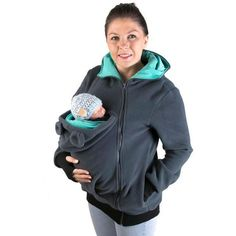 Autumn And Winter Multi-Function Baby Mom's Clothing Hoodie Kangaroo Pouch Coat 3140
